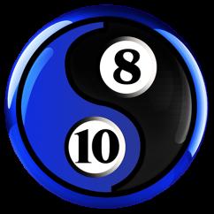 8-Ball 10-Ball Ying Yang